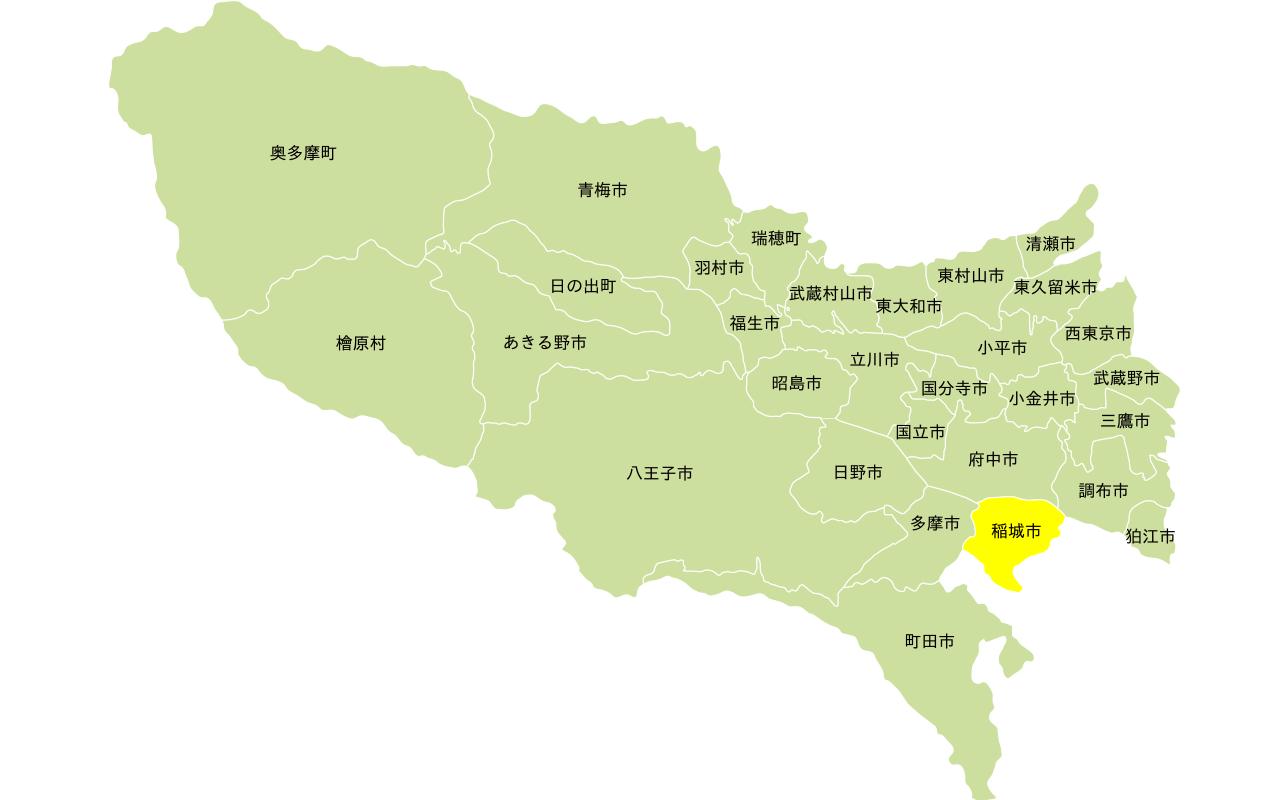 多摩エリアの地図